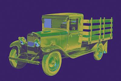 1929 Chevy Truck 1 Ton Pop Art Art Print