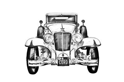 Photograph - 1929 Cord 6-29 Cabriolet Antique Car Illustration by Keith Webber Jr