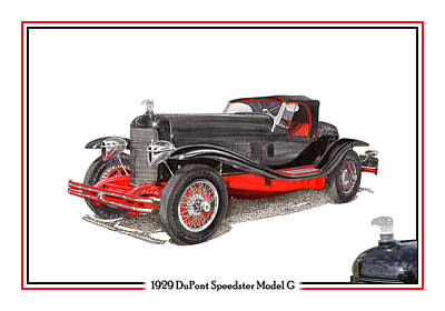 1929 Du Pont Speedster Model G  Original by Jack Pumphrey