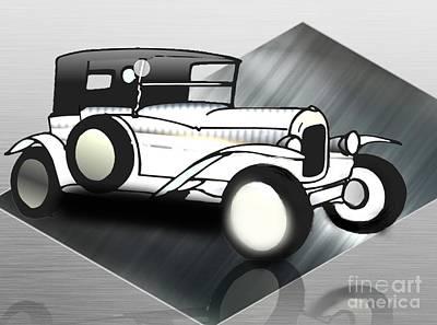 Painting - 1929 Duesenberg Classic Car by Belinda Threeths