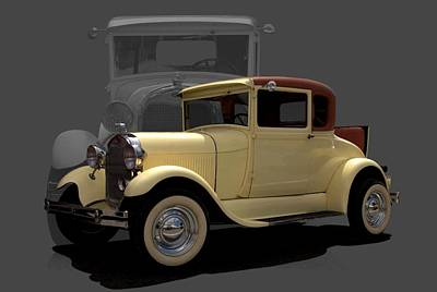 Photograph - 1928 Ford Model A Business Coupe by TeeMack