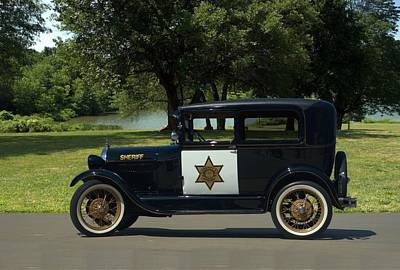 Photograph - 1929 Ford Model A Sheriff Car by Tim McCullough