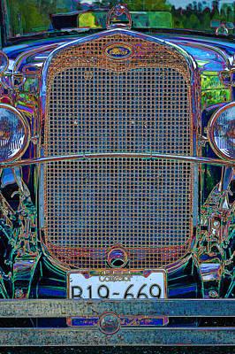Art Print featuring the digital art 1929 Ford by Richard Farrington
