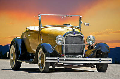 On Trend At The Pool - 1929 Ford Rumble Seat Roadster by Dave Koontz