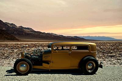 Photograph - 1929 Ford Sedan The Corrugated Flyer by Tim McCullough