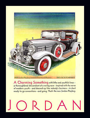 Painting - 1929 Jordan Model G Vintage Ad by Jack Pumphrey