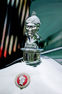 1929 Minerva Hood Ornament Art Print by Jill Reger