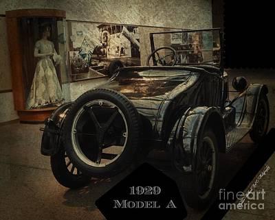 Photograph - 1929 Model A  by Bobbee Rickard