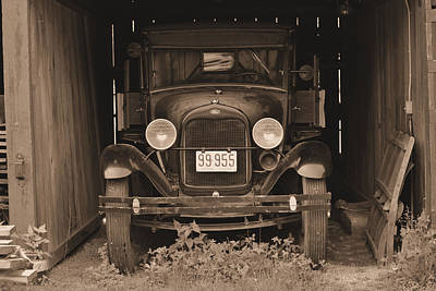 Photograph - 1929 Model-t  by Nadalyn Larsen