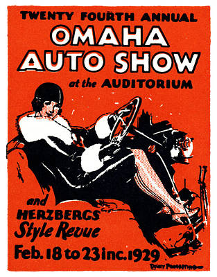 Painting - 1929 Omaha Auto Show by Historic Image