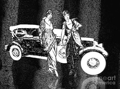 Painting - 1929 Stutz Classic Auto by Belinda Threeths