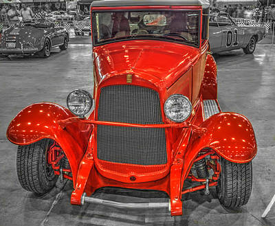 Hdr Photograph - 1929 Willys Overland Whippet Roadster  by John Straton