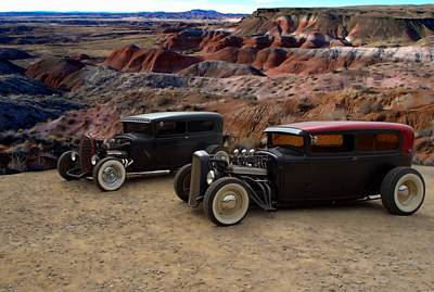 1930 And 1931 Ford Sedan Rat Rods Art Print