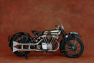 1930 Brough Superior 680cc V-twin Art Print by Panoramic Images