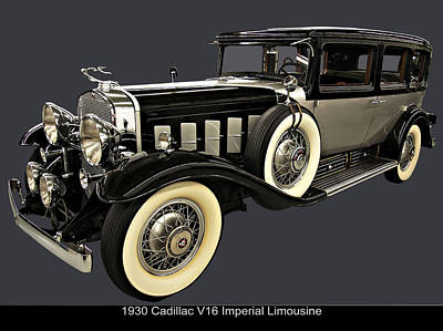 Digital Art - 1930 Cadillac Imperial V16 Limousine by Chris Flees
