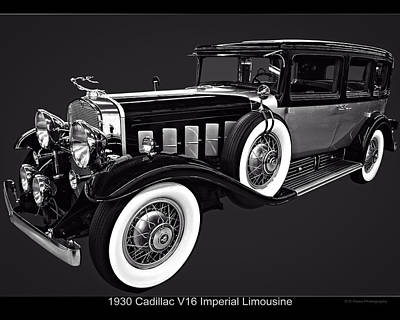 Digital Art - 1930 Cadillac V16 Imperial Limousine by Chris Flees