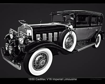 Digital Art - 1930 Cadillac V16 Imperial Limousine by Chris Flees
