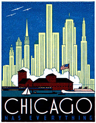 Painting - 1930 Chicago Has Everything by Historic Image