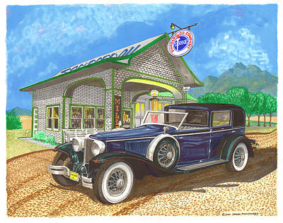 Painting - 1930 Cord L Towncar by Jack Pumphrey