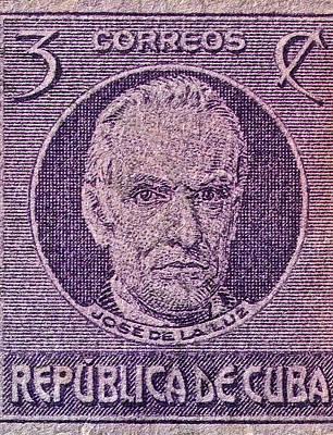 Cuba 3 Photograph - 1930 De La Luz Cuba Stamp by Bill Owen