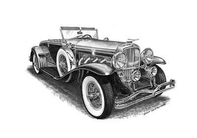 1930 Duesenberg Model J Art Print by Jack Pumphrey