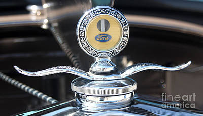 Gingrich Photograph - 1930 Ford Model A - Hood Ornament - 7488 by Gary Gingrich Galleries