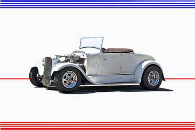 1930 Ford Model A Roadster I Art Print by Dave Koontz