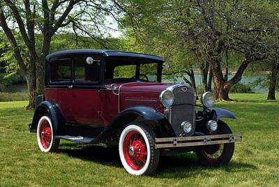 Photograph - 1930 Ford Model A Tudor Sedan by Tim McCullough