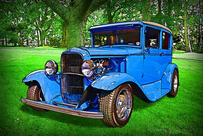 1930 Ford Art Print by Richard Farrington