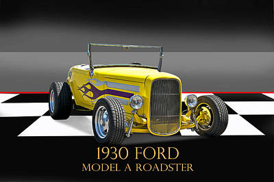 Crazy Cartoon Creatures - 1930 Ford Roadster w ID by Dave Koontz