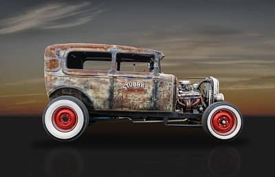 Photograph - 1930 Ford Sedan Hot Rod by Frank J Benz