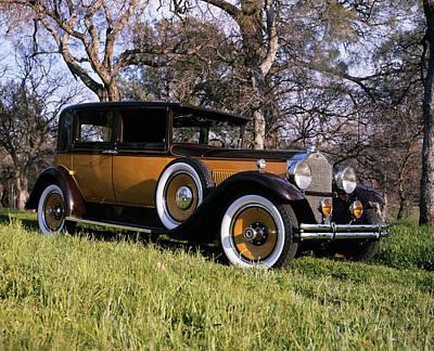 1930 Gold And Black Packard Club Sedan Art Print