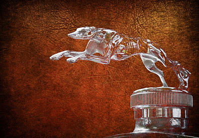 Photograph - 1930 Lincoln Hood Ornament 2 by Steve McKinzie