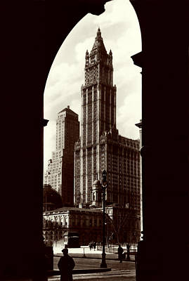 Photograph - 1930 New York City Archway by Historic Image