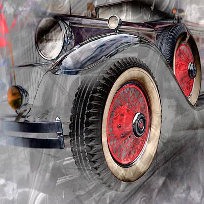Art Print featuring the digital art 1930 Packard by Richard Farrington