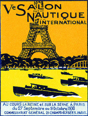 Painting - 1930 Paris Boat Show by Historic Image