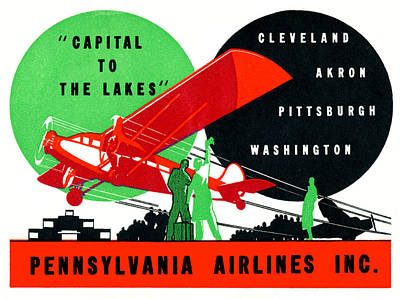 Painting - 1930 Penn Airlines Poster by Historic Image