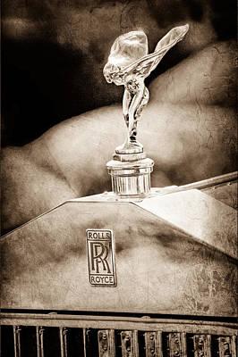 Photograph - 1930 Rolls-royce Phantom I Transformal Phaeton Hood Ornament - Emblem by Jill Reger