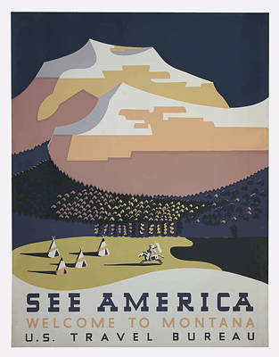 Art Print featuring the painting 1930 See America by American Classic Art
