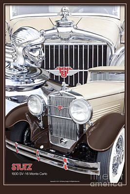 Photograph - 1930 Stutz Sv-16 Monte Carlo by Ed Dooley