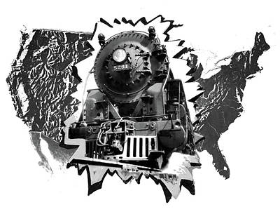 1930s 1940s 1950s Montage United State Art Print