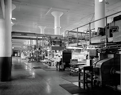 Machinery Photograph - 1930s 1940s Machinery In A Factory by Vintage Images