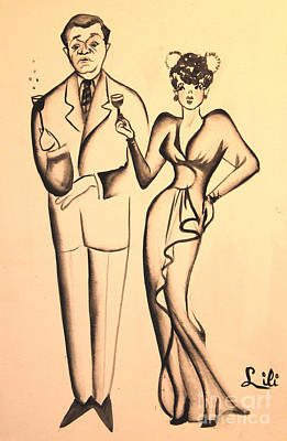 1930s Couple On The Town Print by Art By Tolpo Collection