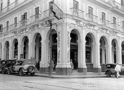 Caribbean Corner Photograph - 1930s Outside Facade Of Sloppy Joes Bar by Vintage Images