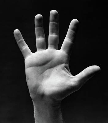 1930s Palm Of Mans Hand Gesture Of Stop Art Print