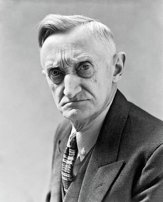 1930s Portrait Of Frowning Elderly Man Art Print