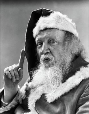 1930s Portrait Santa Claus Pointing Art Print