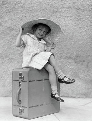 da1fd7a2c04 Floppy Hat Wall Art - Photograph - 1930s Portrait Smiling Little Girl by  Vintage Images