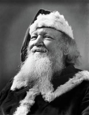 1930s Santa Claus Smiling Portrait Art Print