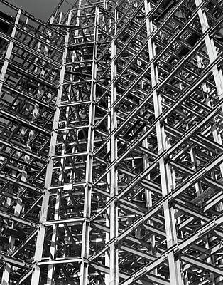 Pattern Photograph - 1930s Steel Girder Framework Of New by Vintage Images